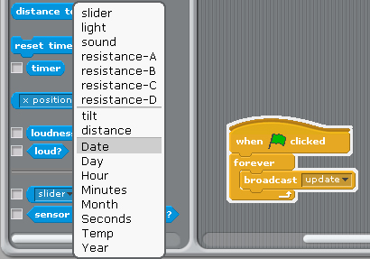 how to use broadcast on scratch